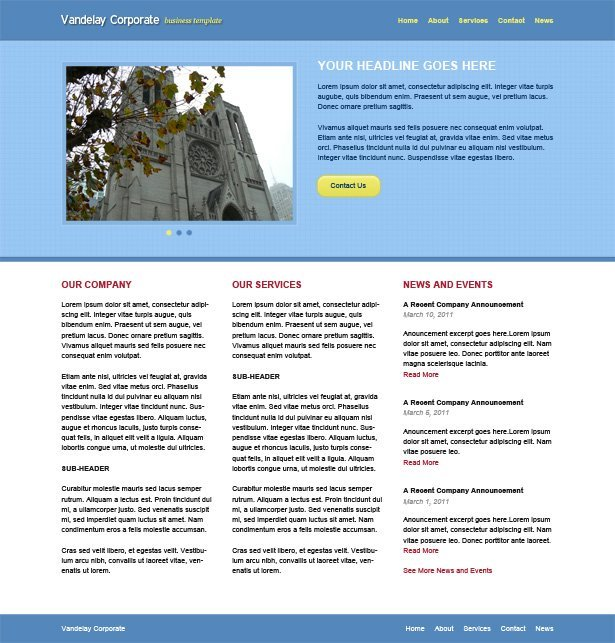 Vandelay Corporate Website Template