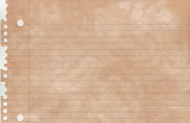 Stained Notebook Paper Textures