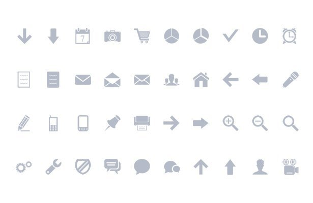 Minimal Web Icons - Volume I