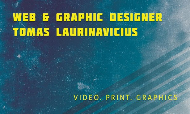 Grunge Business Card Template