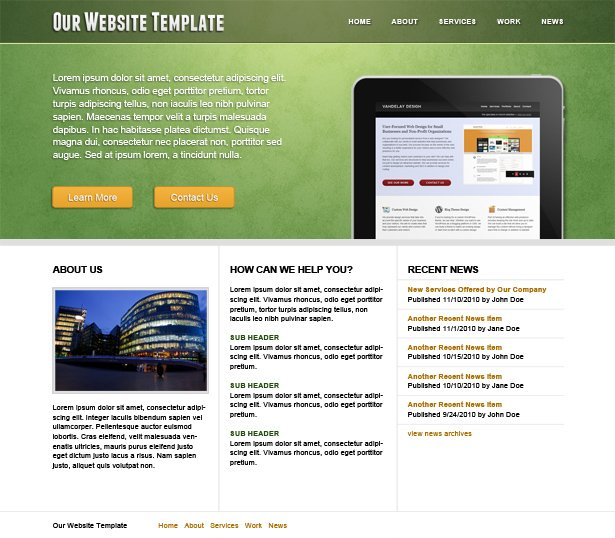 Fee Website Template