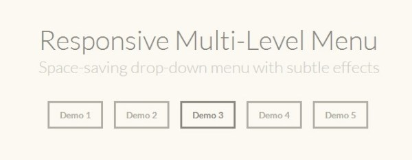 Responsive Multi-Level Menu