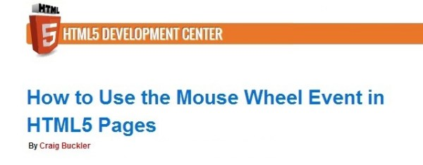 Mouse Wheel Event In HTML5 – Rediscover Mouse Wheel Functions