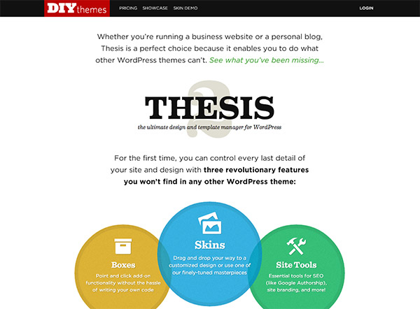 Thesis navigation bar