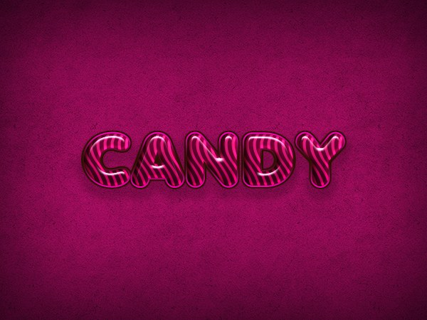 Create a Candy Flavored Text Effect in Photoshop