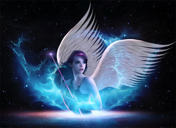 Create a Fantasy Space-Age Light Angel Scene