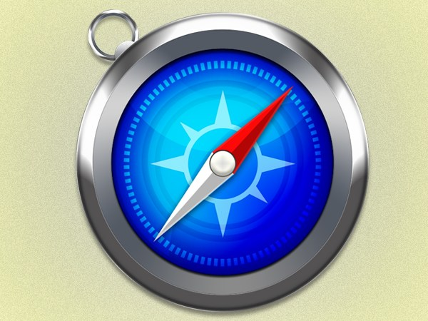 Create an Apple Safari Icon in Photoshop