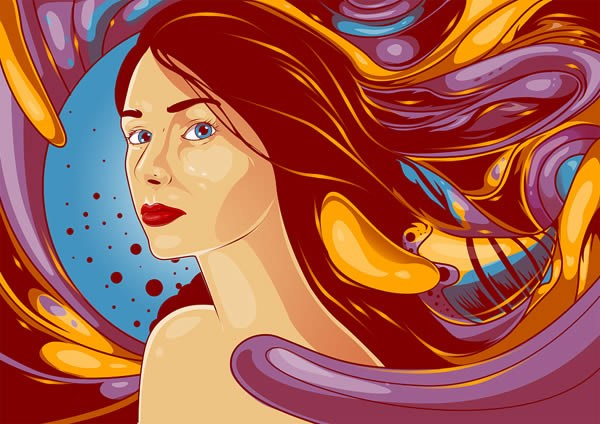 Create a Flowing Vexel Illustration in Photoshop