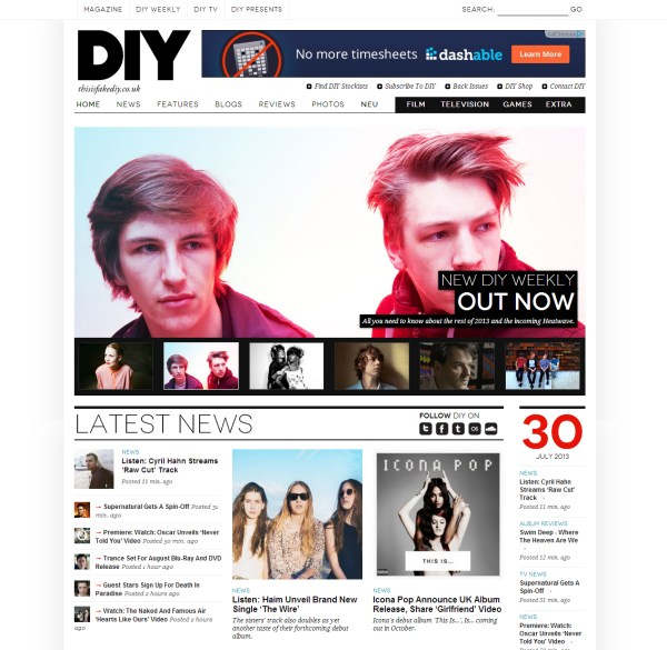 25 magazine or news style web designs for inspiration for Best designed magazine websites