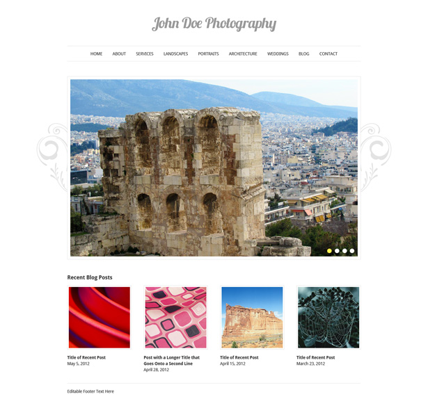 Design an Elegant Photography Website in Photoshop