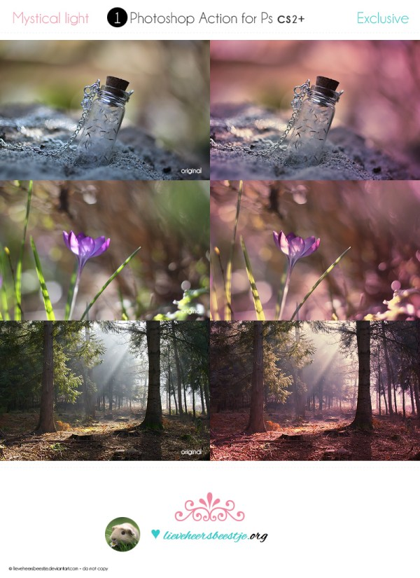 Photoshop Mystical Light Actions