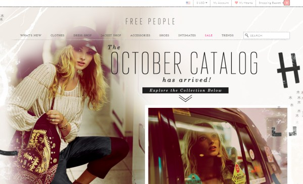 Free People - e-Commerce Website