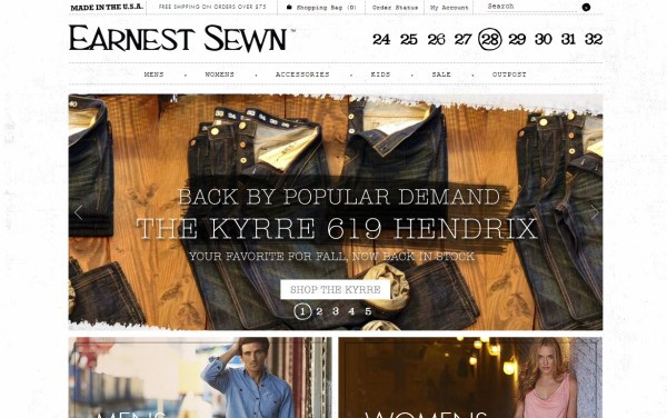 Earnest Sewn - e-Commerce