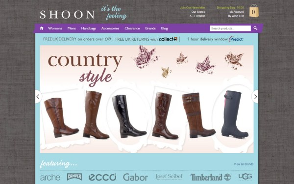 Shoon - e-Commerce Website Design