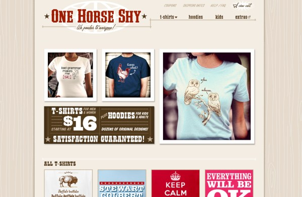One Horse Shy - e-Commerce