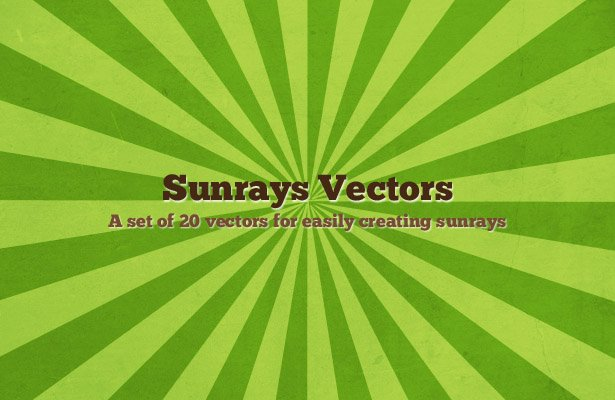 Sunrays Vectors