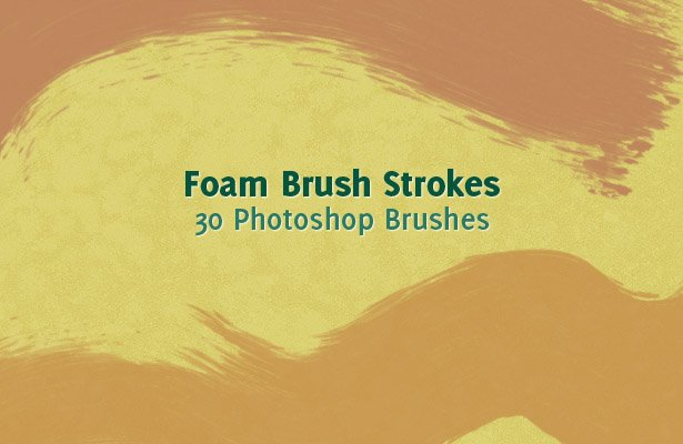 Foam Brush Strokes Photoshop Brushes