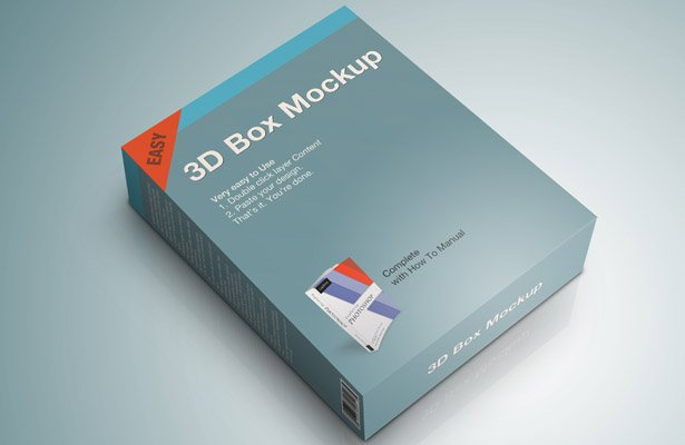 Product Box Mockup PSD - Part II