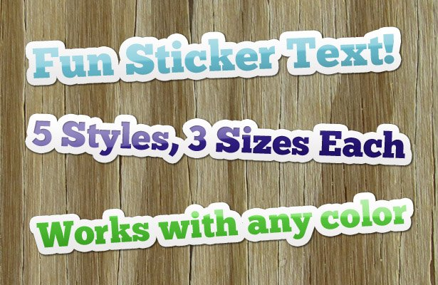 Sticker Photoshop Text Styles