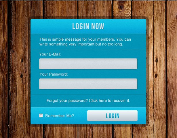 Login Boxes