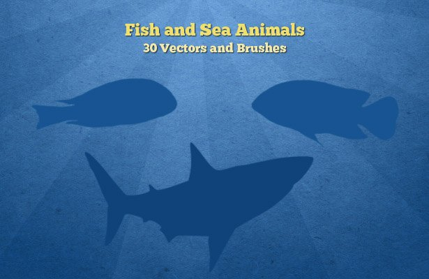 Fish and Sea Animals Silhouettes