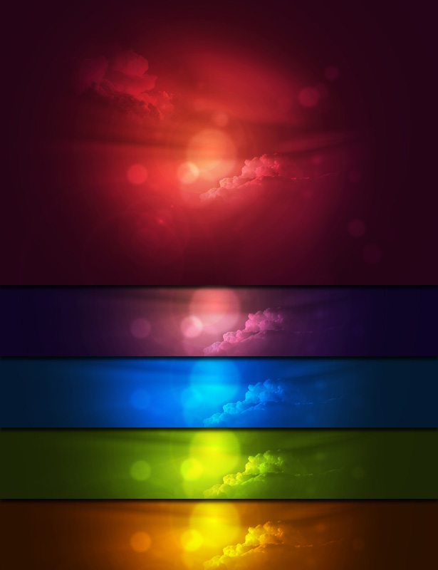 Colorful Cloud Backgrounds