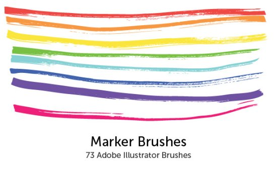 Marker Brushes for Adobe Illustrator