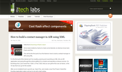 How to Build a Contact Manager in AIR using XML Part I
