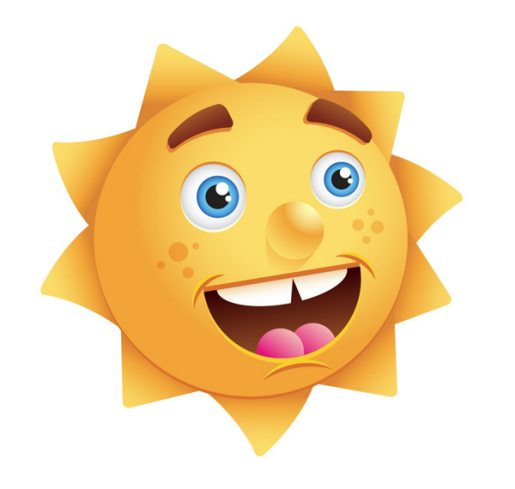 Create a Happy Sun Character
