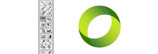 Illustrator Ring Shape Via Overlapping Crescents Effect