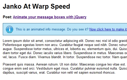 Animate Your Message Boxes with jQuery