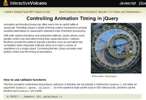 Controlling Animation Timing in jQuery
