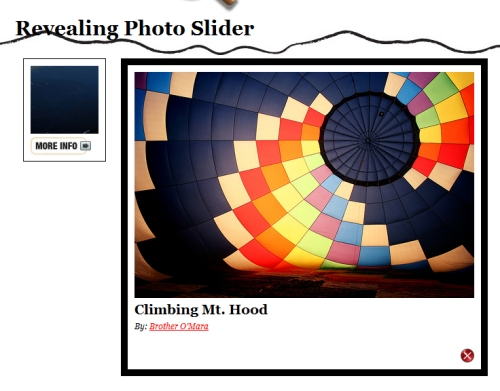 Learning jQuery: Revealing Photo Slider