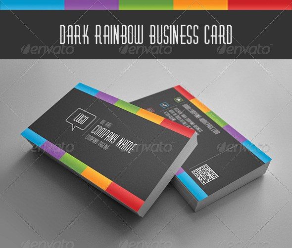 Dark Rainbow Business Card