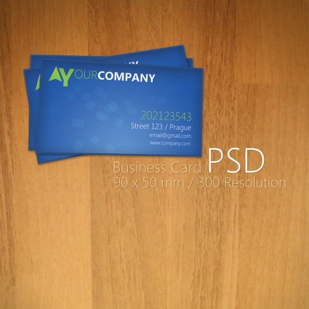 Blue Business Card PSD