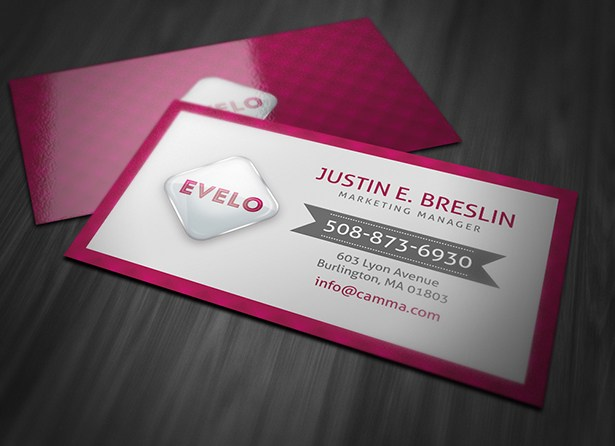 Hot Pink Marketing Business Card Template