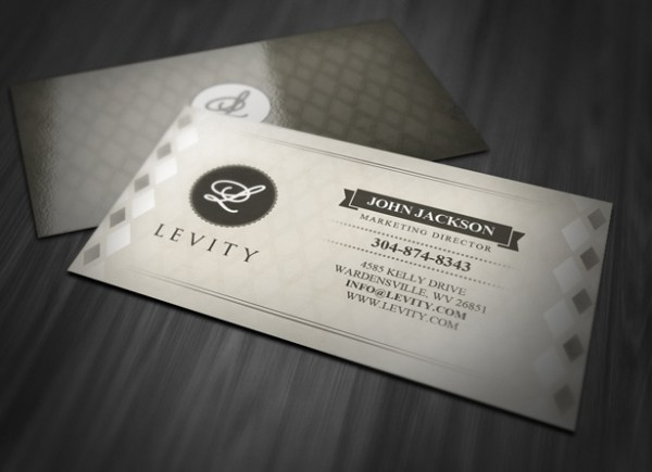 Stylish Retro Business Card Template