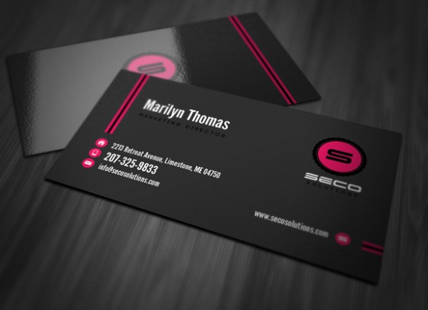 50 awesome business card templates vandelay design professional business card template reheart Gallery