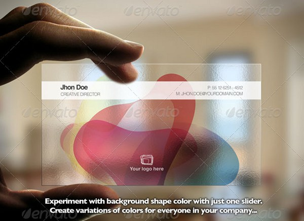 Transparent and Colorful Business Card