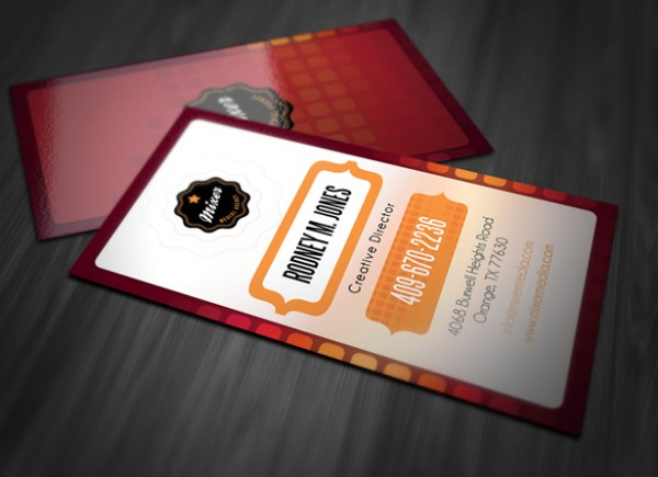 Stylish Vertical Business Card Template