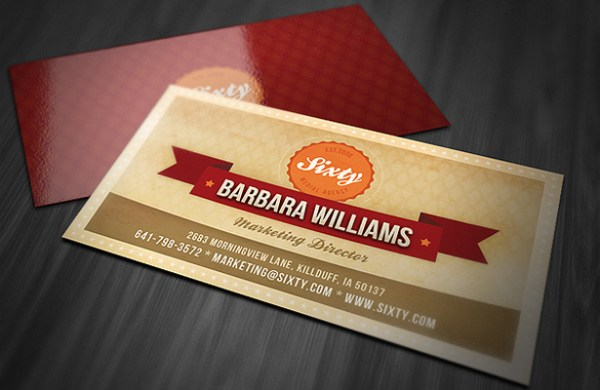 Retro-Style Business Card Template