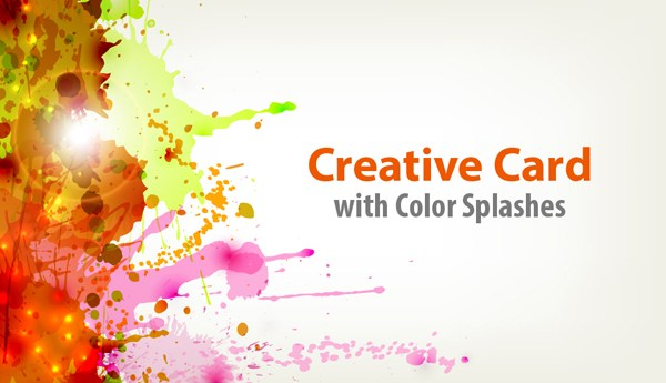 How to Create a Creative Card with a Splash of Color and Light Effects in Illustrator