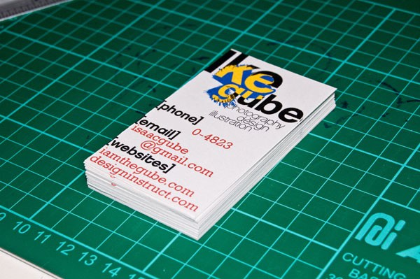 Make a Swiss Design Inspired Business Card in 30 Minutes