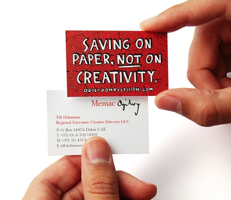 Undersized Business Card