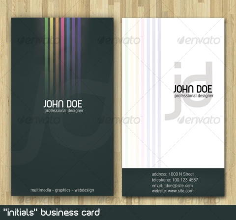 Initials Business Card