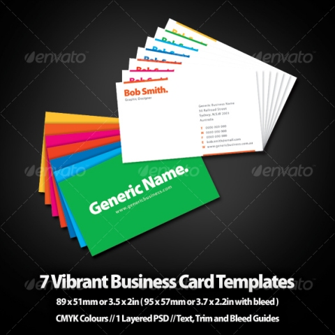 7 Vibrant Business Card Templates