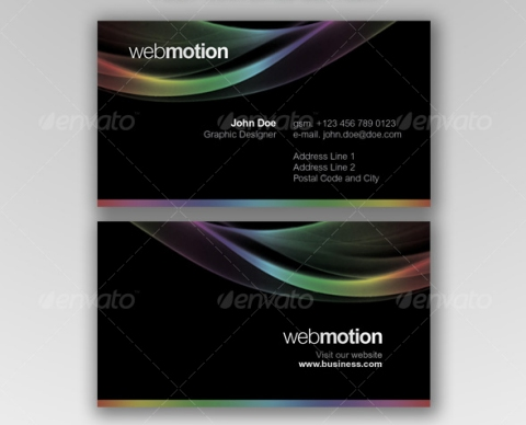 Motion Business Cards