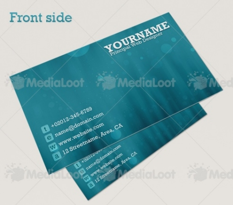 Bokeh Abstract Business Cards