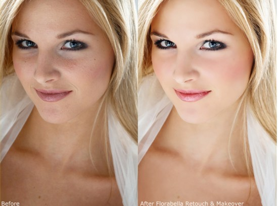 Retouch and Makeover Actions
