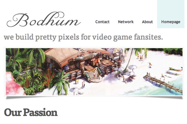 the bodhum network homepage responsive design inspiration